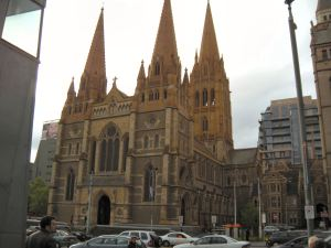 St. Paul's Church in Federation Square, Melbourne.
