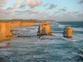 Two of the twelve apostles, east of the larger group.