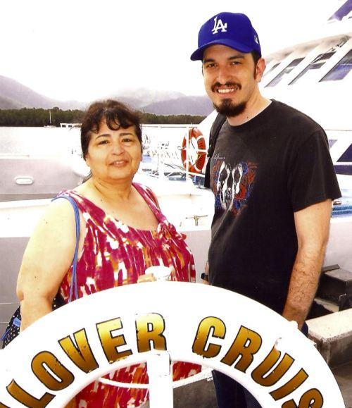 Tony and I before boarding the catamaran