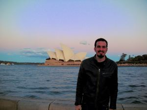 My son, Tony, in Sydney on our 2009 trip.