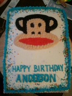 This was the cake I made for Anderson's first birthday.