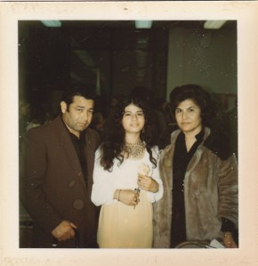 Dad and Mom with me at Junior Miss Pageant, 1973.
