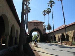 Entering the inner quad, Stanford University