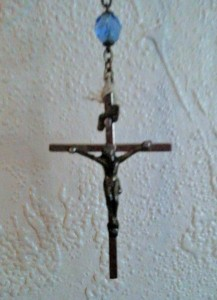 Crucifix I gifted my grandmother in 1990.  When she passed in 2008,  it became mine.