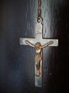 Another one of my grandmother's crucifixes that reside with me.