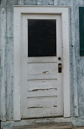 Worker housing door, Cannery Row, Monterey, California